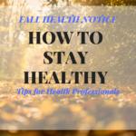 Fall Health Notice