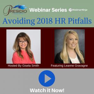Avoiding 2018 HR Pitfalls