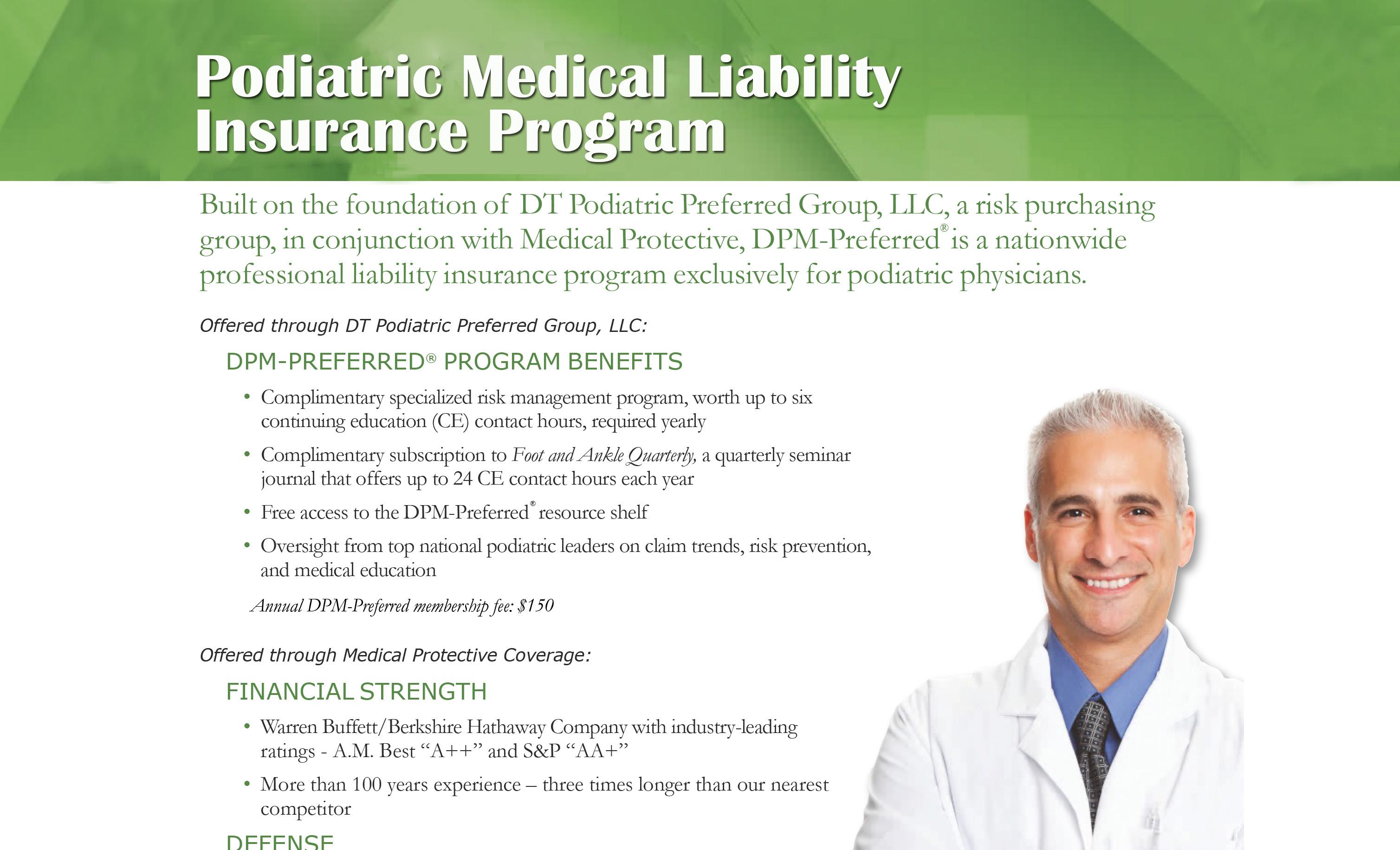 DPM Preferred Malpractice Insurance
